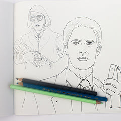 Colour Me Good 90s colouring book - twin peaks colouring page - by Mel Elliott