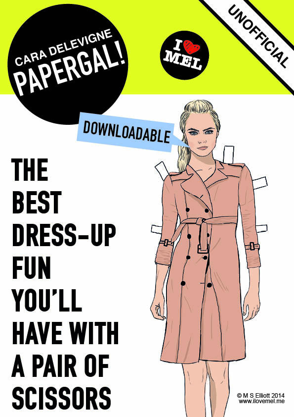 DOWNLOADABLE CARA DELEVIGNE PAPER DOLL