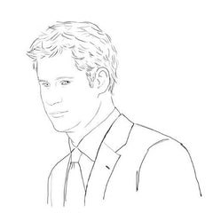 Colour Me Good Ginger colouring book - Prince Harry colouring page - by Mel Elliott