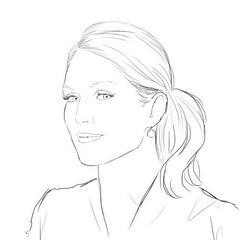 Colour Me Good Ginger colouring book - Julianne Moore colouring page - by Mel Elliot