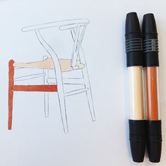 Colour Me Good Chairs - colouring book by Mel Elliott - colouring page