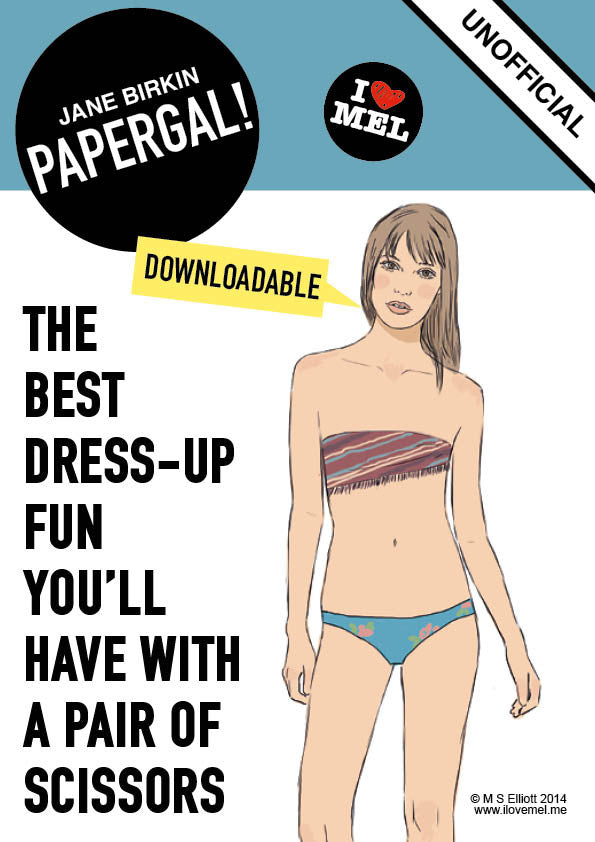 JANE BIRKIN DOWNLOADABLE PAPER DOLL