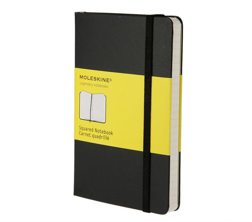 MOLESKINE - Hard Black Pocket Squared Notebook