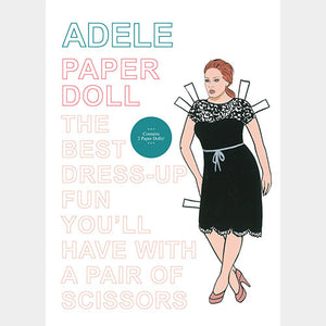 Adele Paper Doll - paper doll popstar activity book - by Mel Elliott