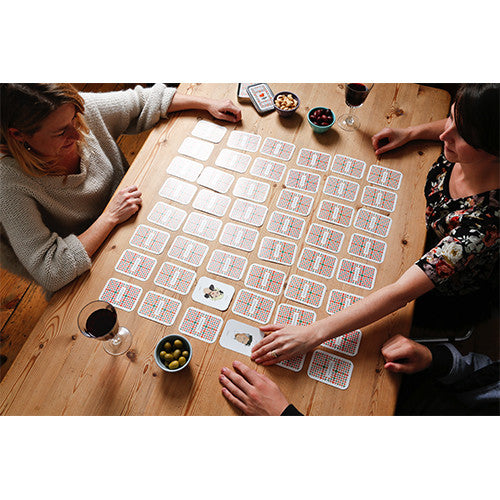 Seeing Double pairs card - parlour memory game - by Mel Elliott