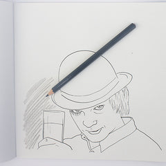 Colour Me Good Arrggghhhh!! colouring book - A Clockwork Orange colouring page - by Mel Elliott