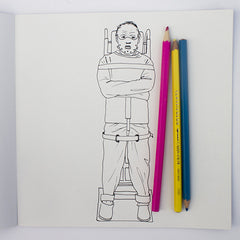 Colour Me Good Arrggghhhh!! colouring book - Silence of the Lambs colouring page with Hannibal Lecter - by Mel Elliott