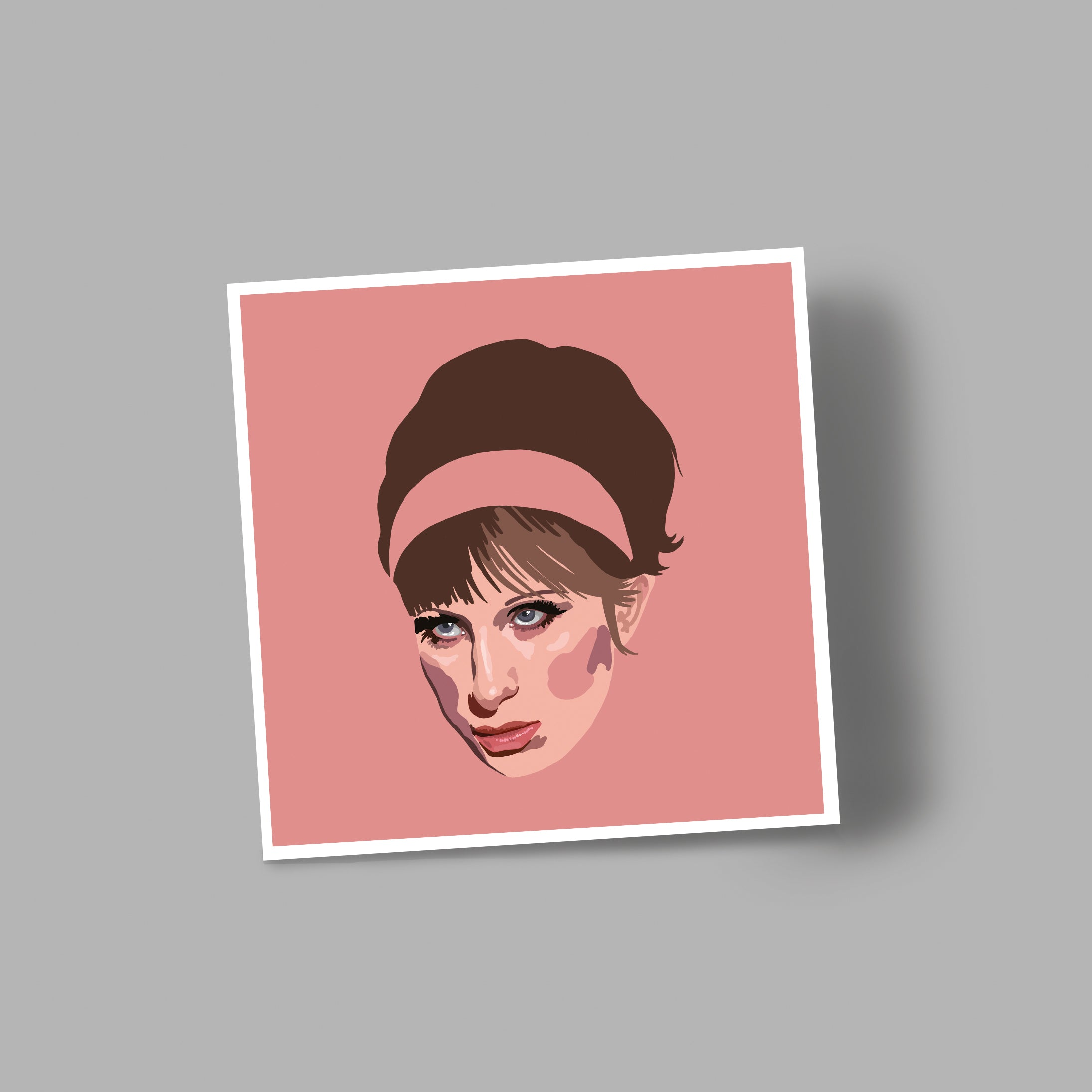 'BABS' blank greetings card