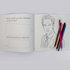 Benedict Cumberbatch colouring page, Benedict Cumberbatch suit