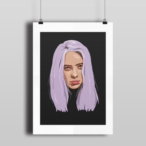'BILLIE' signed print (A3)