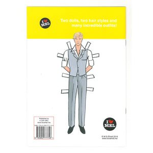 David Bowie Paper Doll Book - Back Cover - paper doll activity book by Mel Elliott
