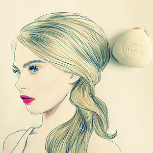 Colour Me Good Cara - Cara Delevingne colouring book - updo colouring page - by Mel Elliott