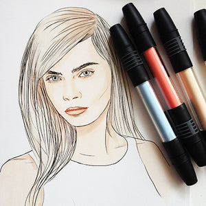 Colour Me Good Cara - Cara Delevingne colouring book - colouring page - by Mel Elliott
