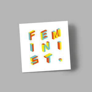'FEMINIST' blank greetings card