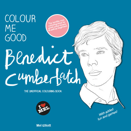 Benedict Cumberbatch colouring book, Benedict Cumberbatch front cover