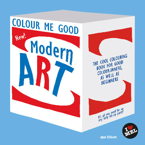Colour me Good Modern Art - colouring book front page - by Mel Elliott