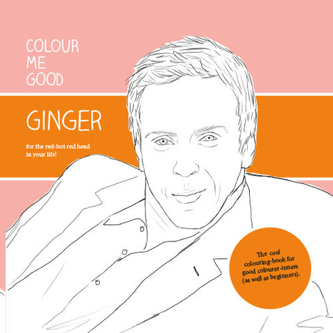 COLOUR ME GOOD GINGER colouring book