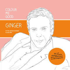 Colour Me Good Ginger - colouring book front page - by Mel Elliott