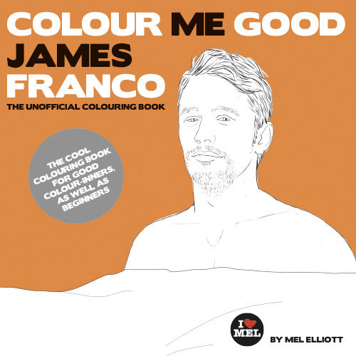 James Franco Colouring Book. Front Cover.