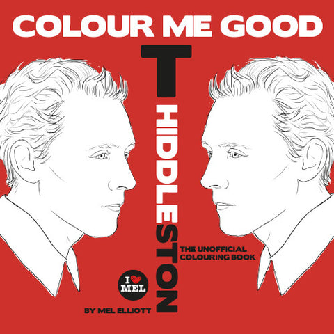 COLOUR ME GOOD TOM HIDDLESTON colouring book