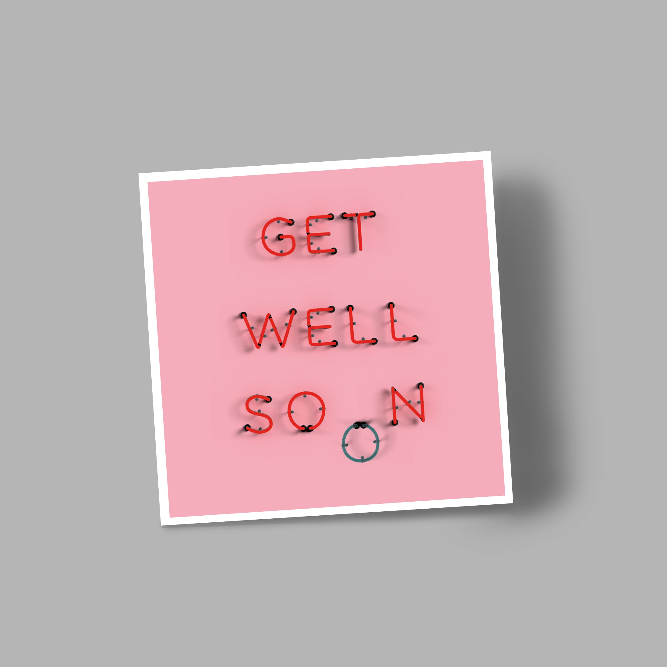 Get Well Soon Blank Greetings Card I Love Mel