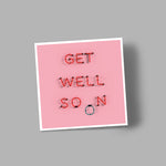 'GET WELL SOON' blank greetings card