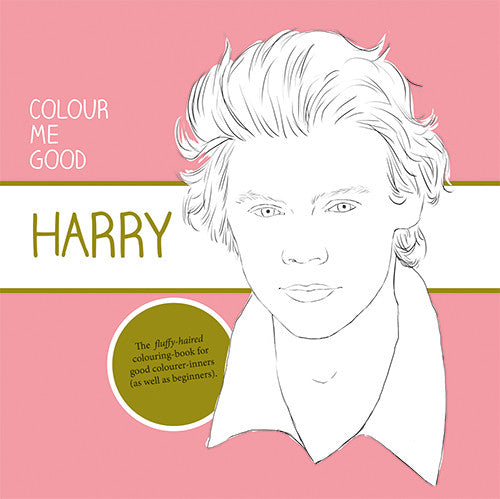 Harry Styles colouring pages. Harry Styles colouring book front cover.