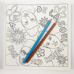 Colour Me Good Hip Hop colouring book - De La Soul colouring page - by Mel Elliott