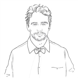 James Franco Coloring Page. James Franco with Bow Tie