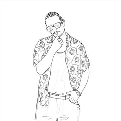 James Franco Coloring Page. James Franco in Spring Breakers. Alien.