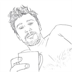 James Franco coloring page. James Franco in bed. James Franco bed selfie.