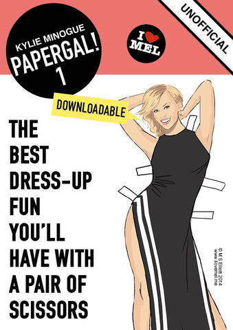 KYLIE DOWNLOADABLE PAPER DOLL 1