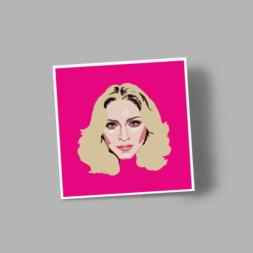 'MADONNA' blank greetings card