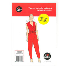 Top Twerker paper Doll Book back cover - paper doll activity book by Mel Elliott