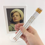Mad Men character pencils - novelty hand stamped pencils - pop culture pencils by Mel Elliott
