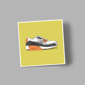 'NIKE' blank greetings card