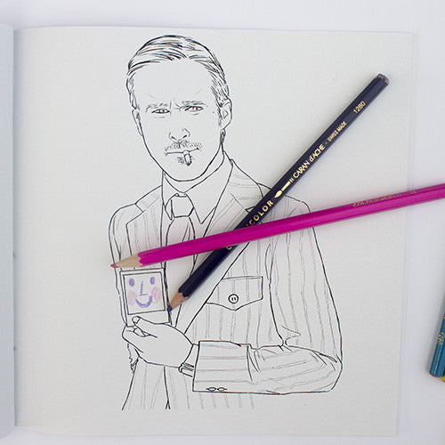 Ryan Gosling colouring page. Ryan Golsing polaroid. Ryan Gosling in Blue Valentine.