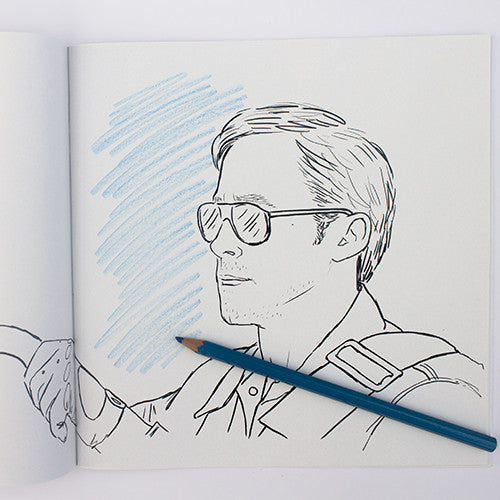 Ryan Gosling colouring page. Ryan Golsing in Drive.