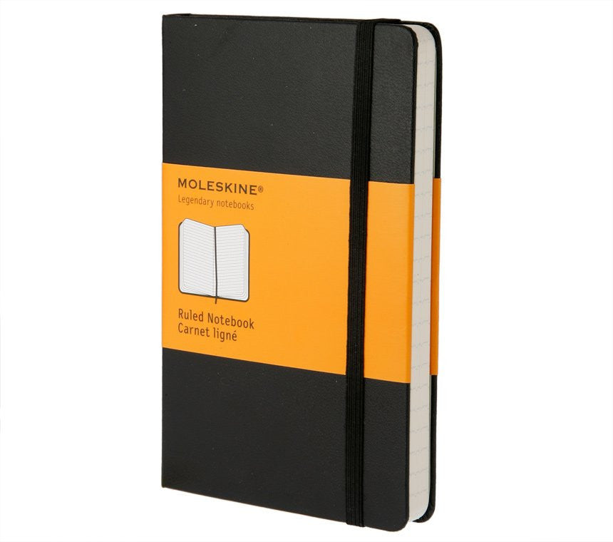 MOLESKINE - Hard Black Pocket Ruled Notebook