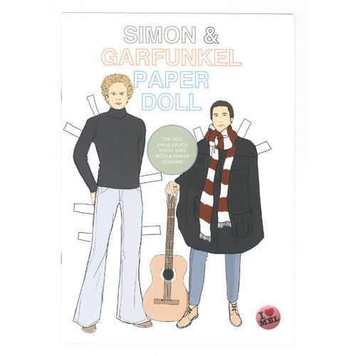 Simon and Garfunkel paper Doll Book front cover - paper doll activity book by Mel Elliott