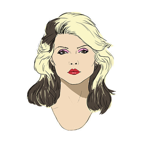 Seeing Double pairs card - parlour memory game - Debbie Harry  card detail - by Mel Elliott