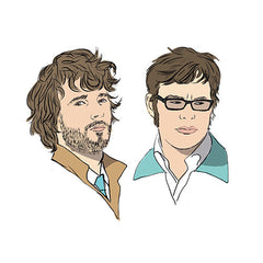 Seeing Double pairs card - parlour memory game - Flight of the Conchords card detail - by Mel Elliott