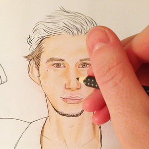Colour Me Good Swooooon colouring book - Channing Tatum colouring page - by Mel Elliott