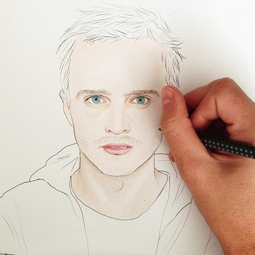 Colour Me Good Swooooon colouring book - Aaron Paul colouring page - by Mel Elliott