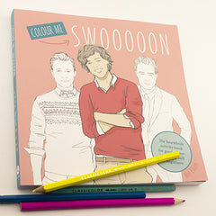 Colour Me Good Swooooon colouring book - front page - by Mel Elliott