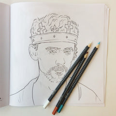 Tom Hiddleston colouring page, Tom Hiddleston Hollow Crown, Tom Hiddleston Prince Hal, Tom Hiddleston Henry V