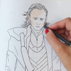 Tom Hiddleston colouring page, Tom Hiddleston Loki, Tom Hiddleston Avengers
