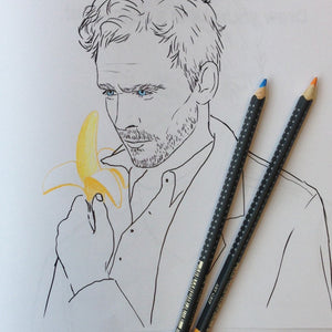 Tom Hiddleston colouring page, Tom Hiddleston scruffy