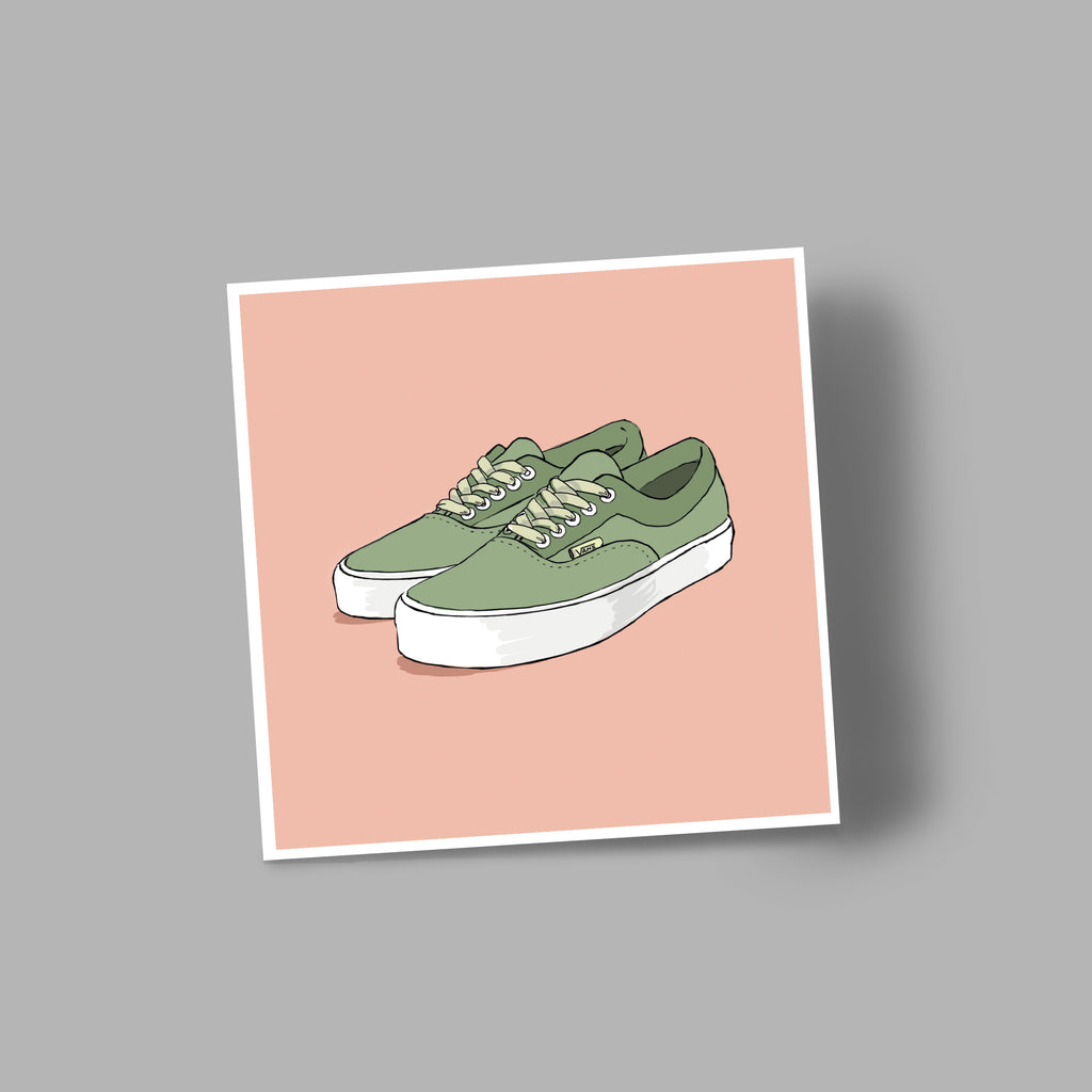 'VANS' blank greetings card