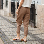 Load image into Gallery viewer, Big Pockets Comfy Natural Linen Pants